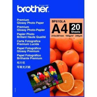 PAPIER PHOTO BRILLANT BROTHER 20 feuilles format A4 190g/m²
