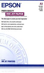 EPSON S041068 Photo papier inkjet 104g/m2 A3 100 feuilles pack de 1