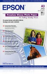 EPSON S041315 brillant photo papier inkjet 255g/m2 A3 20 feuilles pack de 1