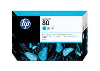 HP 80 original cartouche d encre cyan capacité standard 350ml pack de 1