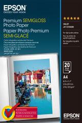 EPSON PREMIUM semi brillant photo papier inkjet 251g/m2 A4 20 feuilles pack de 1