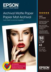 EPSON MATTE archival papier inkjet 192g/m2 A3 50 feuilles pack de 1