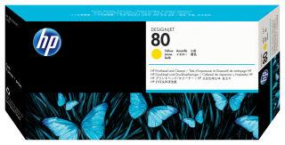 HP 80 original tête d impression jaune capacité standard 2.500 pages pack de 1