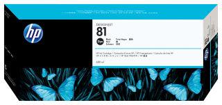 HP 81 original cartouche d encre teintée noir capacité standard 680ml pack de 1