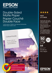 EPSON MATT double sides  papier inkjet 178g/m2 A4 50 feuilles pack de 1