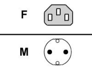 FUJITSU Cable secteur (F). 1.8m. gris