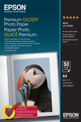 EPSON PREMIUM brillant photo  papier inkjet 225g/m2 A4 50 feuilles pack de 1