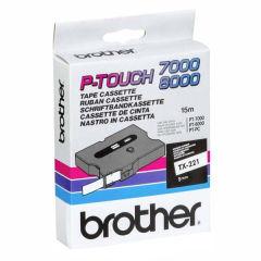 BROTHER P-TOUCH TX-221 noir sur blanc 9mm