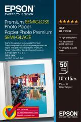 EPSON Pap Photo Premium Semi Glacé 10x15cm (50f./251g)