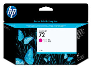 HP 72 original cartouche dencre magenta haute capacité 130ml pack de 1