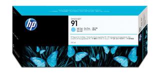 HP 91 original cartouche d encre cyan clair capacité standard 775ml pack de 1 avec d encre Vivera