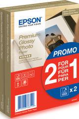 EPSON PREMIUM brillant photo  papier inkjet 255g/m2 100x150mm 2x40 feuilles pack de 1 BOGOF