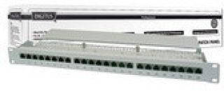 DIGITUS CAT 5e DIGITUS panneau de brassage de classe D blindé 24ports RJ45 8P8C LSA 1UH montage en rack Couleur Gris RAL 7035