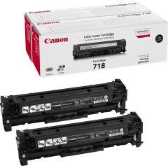 CANON 718 BK toner noir capacité standard 3.400 pages pack de 2