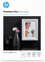 HP PREMIUM Plus brillant Photo  papier blanc 300g/m2 100x150mm 25 feuilles pack de 1