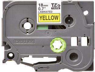 BROTHER P-TOUCH TZE-641 noir sur jaune  18mm