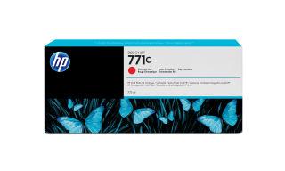 HP 771C original cartouche d encre chromatique rouge capacité standard 775ml pack de 1