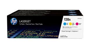 HP 128A original cartouche de toner cyan, magenta et jaune capacité standard 3 x 1.300 pages pack de 3