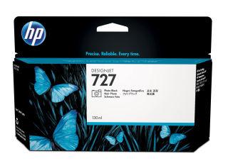HP 727 original cartouche d encre photo noir capacité standard 130ml pack de 1