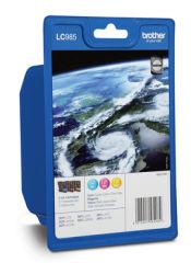 BROTHER LC-985 cartouche d encre cyan, magenta et jaune capacité standard 3 x 260 pages 3-pack blister sans alarme