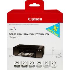 CANON PGI-29 cartouche encre noir et cinq couleurs capacite standard multipack