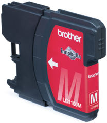 BROTHER LC-1100 cartouche encre magenta capacité standard 7.5ml 325 pages 1-pack blister sans alarme