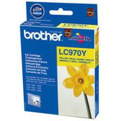 BROTHER LC-970 cartouche encre jaune capacité standard 300 pages 1-pack blister sans alarme