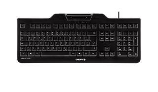 CHERRY KC 1000 SC Clavier 105 touches avec lecteur de carte à puce intégré USB noir Layout FRANCAIS