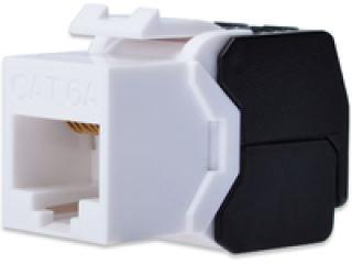 DIGITUS Module Keystone CAT 6A DIGITUS non blindé 500MHz conforme à ISO/IEC 11801:2002 AM2:2009/09 Montage sans outil