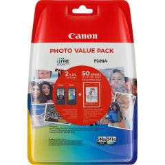 CANON PG-540XL/CL541XL Value Pack blister security 4x6 Phot Paper GP-501 50sheets + XL Black & XL Colour Cartridges