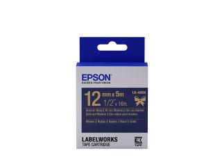 EPSON Ruban LK-4HKK - Satin - Or/Bleu marine 12/5