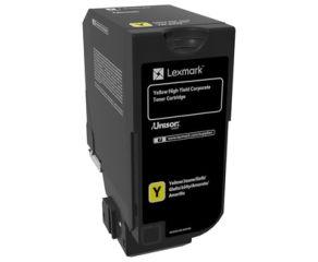 LEXMARK CS725 Cartouche de toner Corporate haute capacité Jaune 12K