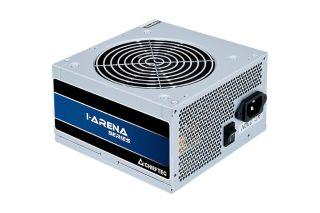 CHIEFTEC 500W efficacité >80p.c. ATX 12V 2.3 230V fixe Câbles 1x20+4PIN ATX 5xSATA 3xMolex 1x4PIN 12V 1x8PIN 6 + 2 PCIe