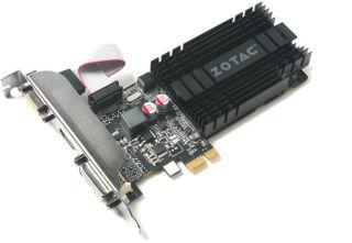 ZOTAC GeForce GT 710 1GB DDR3 PCIe x1 Passive PCI-E 1x DVI-D HDMI VGA