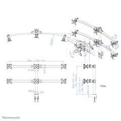 NEWSTAR FPMA-D700D6 Desk Mount 6x19-27in