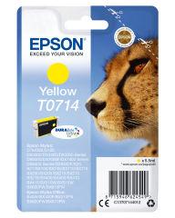 EPSON T0714 cartouche dencre jaune capacité standard 5.5ml 1-pack RF-AM blister