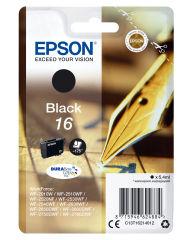 EPSON 16 cartouche dencre noir capacité standard 5.4ml 175 pages 1-pack blister sans alarme