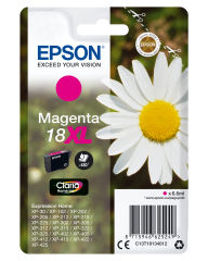 EPSON 18XL cartouche dencre magenta haute capacité 6.6ml 450 pages 1-pack blister sans alarme