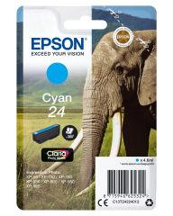EPSON 24 cartouche encre cyan capacité standard 4.6ml 360 pages 1-pack RF-AM blister