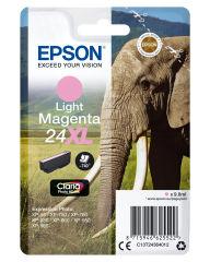 EPSON 24XL cartouche dencre magenta clair haute capacité 9.8ml 740 pages 1-pack blister sans alarme