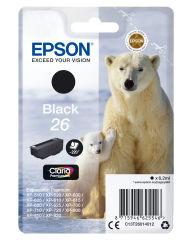 EPSON 26 cartouche encre noir capacité standard 6.2ml 220 pages 1-pack RF-AM blister