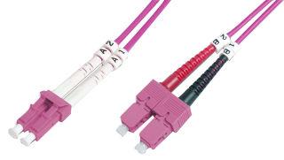 DIGITUS FO patch cord duplex LC to SC MM OM4 50/125u 5 m 5m de longueur