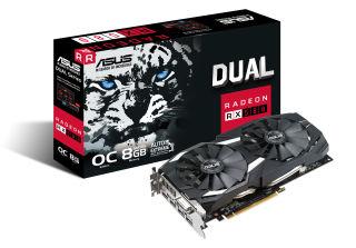 ASUS DUAL-RX580-O8G DVI 2xHDMI 2xDisplayPort