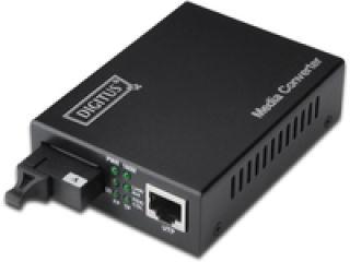 DIGITUS Convertisseur médias DIGITUS Singlemode BiDi WDM 10/100Base-TX à 100Base-FX Tx1310nm / Rx1550nm Connecteur SC jusqu à 20km