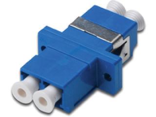 DIGITUS FO coupler duplex LC to LC SM color blue ceramic sleeve polymer housing incl. screws Singlemode