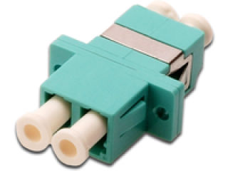 DIGITUS FO coupler duplex LC to LC MM color aqua ceramic sleeve polymer housing incl. screws Multimode vis incluses