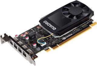 HP NVIDIA Quadro P1000 4GB/DDR5 graphics card LP (CUDA™ Parallel Processor Cores 640)(4xmDP+2xmDP to DP cables) - 4Displays