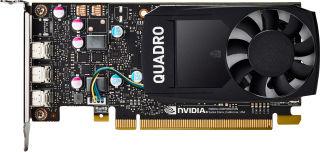 HP NVIDIA Quadro P400 2GB/DDR5 graphics card LP (CUDA™ Parallel Processor Cores 256)(3xmDP+2xmDP to DP cables) - 4Displays