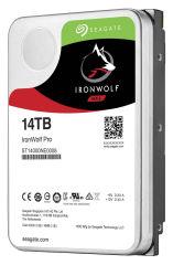 SEAGATE Ironwolf PRO Enterprise NAS HDD 14TB 7200rpm 6Gb/s SATA 256MBcache 8.9cm 3.5inch 24x7 for NAS und RAID Rackmount Systeme BLK