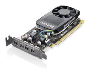 LENOVO ThinkStation Carte graphique NVIDIA Quadro P620 2Go GDDR5 Mini DPx4 avec support LP pour SFF